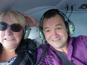 Yeah - I was totally calm pre helicopter trip......