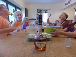 The booze was for the cake not the adults - honest!