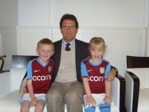 My nephew and eldest with Mr Capello