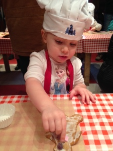 Serious gingerbread decorating