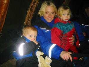 In a Lappish tent in 2006