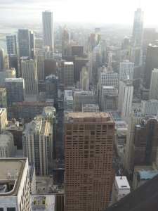 Looking down to the 51st floor