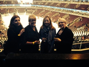Enjoying the corporate hospitality at the Chicago Blackhawks
