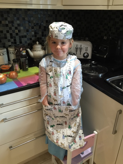 Princess Elsa cooking