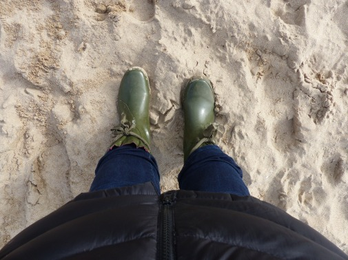 Welly boots + sand