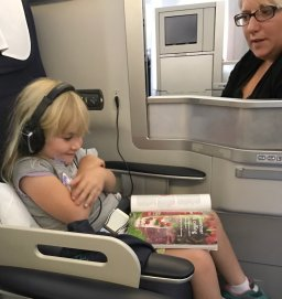 Red Mag On Plane