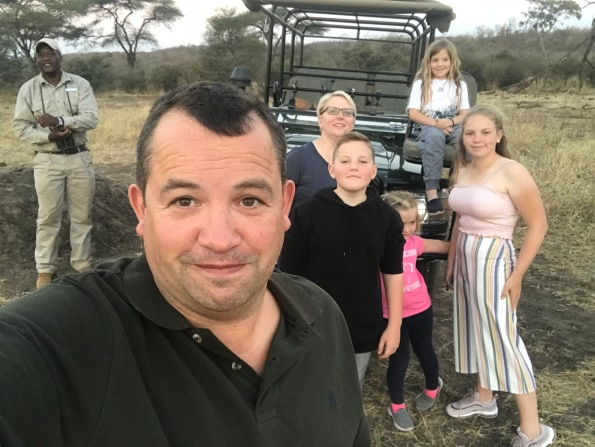 Price family safari selfie